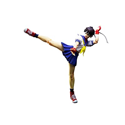 TAMASHII NATIONS Bandai S.H.Figuarts Sakura Kasugano Street Fighter Action Figure: Toys & Games