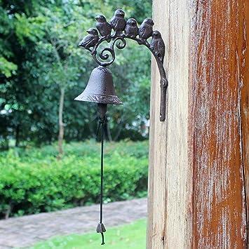 Campana para casas rurales - campana como timbre de puerta - campana de jardín con pájaros: Amazon.es: Bricolaje y herramientas