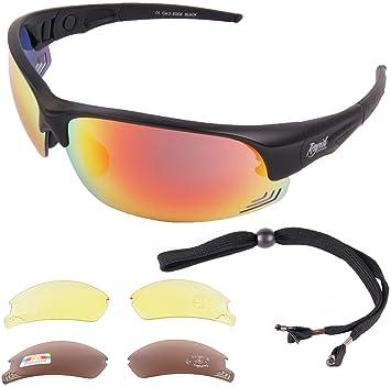 e83dc17177 Rapid Eyewear Noir Hommes et Femmes Lunettes SOLAIRES DE Sport 'Edge  Black'. Protection