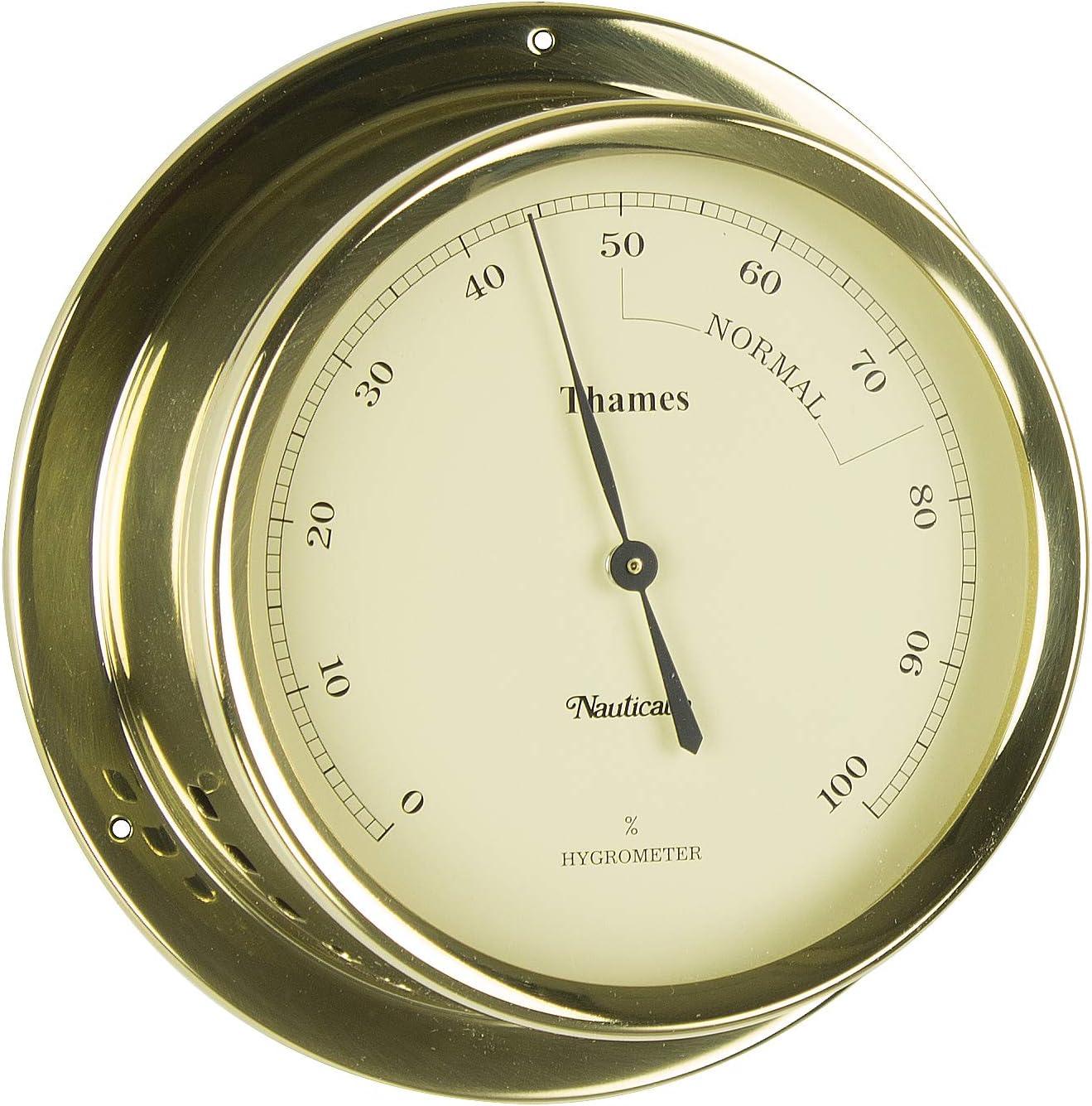 Brass Thames Thermometer//Hygrometer Set