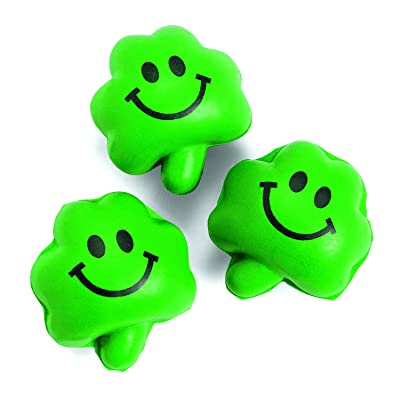 Mini Shamrock Relaxable Balls (24 Pieces) St. Patrick's Day Holiday Decor Accents & Toys, Stress Tension & Anxiety Relief: Health & Personal Care