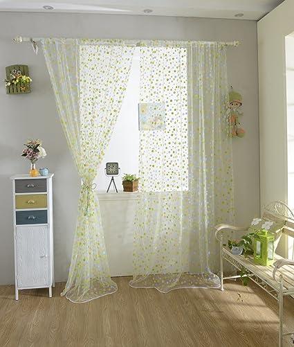 Buy MagiDeal Colourful Dot Pattern Window Door Balcony Curtain Home