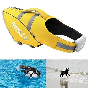 5 Gr/ö/ße Float coat mit Griff Ubest Reflektierende Hunde-Schwimmweste Schwimmweste f/ür Hunde 3 Farben