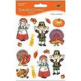 Pilgrim & Turkey Stickers   (4 Shs/Pkg)