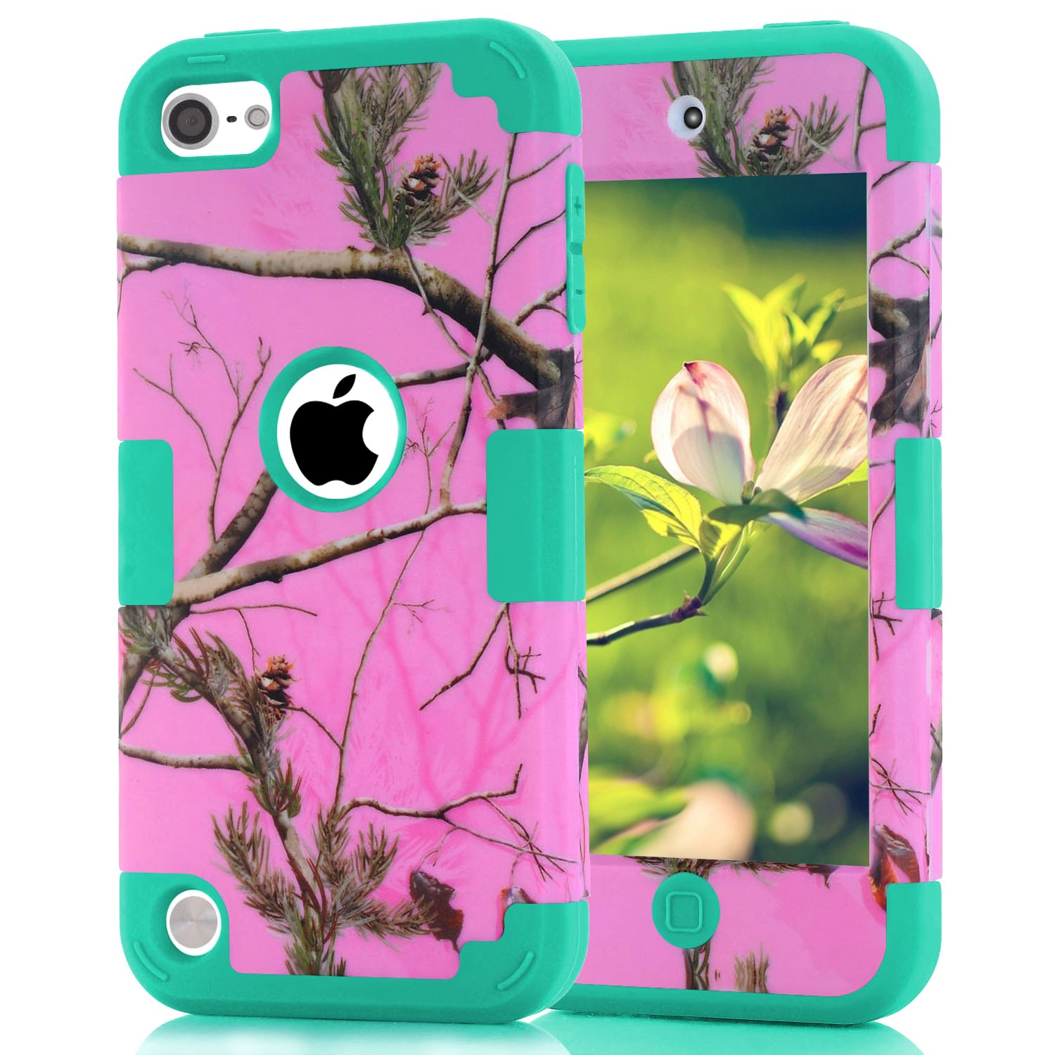 Funda para iPod Touch 5, 6, 7 (naturaleza - rosa)