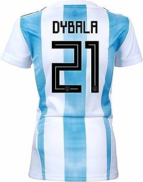 adidas Dybala #21 Argentina Home - Camiseta de fútbol para mujer, diseño de la Copa del Mundo Rusia 2018, Medium, White / Clear Blue / Black: Amazon.es: Deportes y aire libre