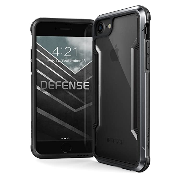 premium selection 8a29d bc2b0 iPhone 8, iPhone 7, iPhone 6 Case, X-Doria Defense Shield - Military Grade  Drop Tested, Anodized Aluminum, TPU, Polycarbonate Protective Case for ...