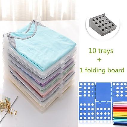 Superbe Closet Organizer, V Mix Clothes/T Shirt Underwear Folder With 10
