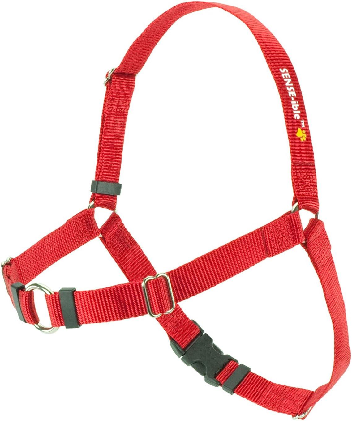 3//4 Sense-ible No Pull Dog Harness Medium//Large Narrow Red