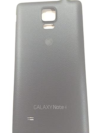 Battery Door Case Back Replacement Cover Compatible with Samsung Galaxy  Note 4 AT&T N910A (Black)