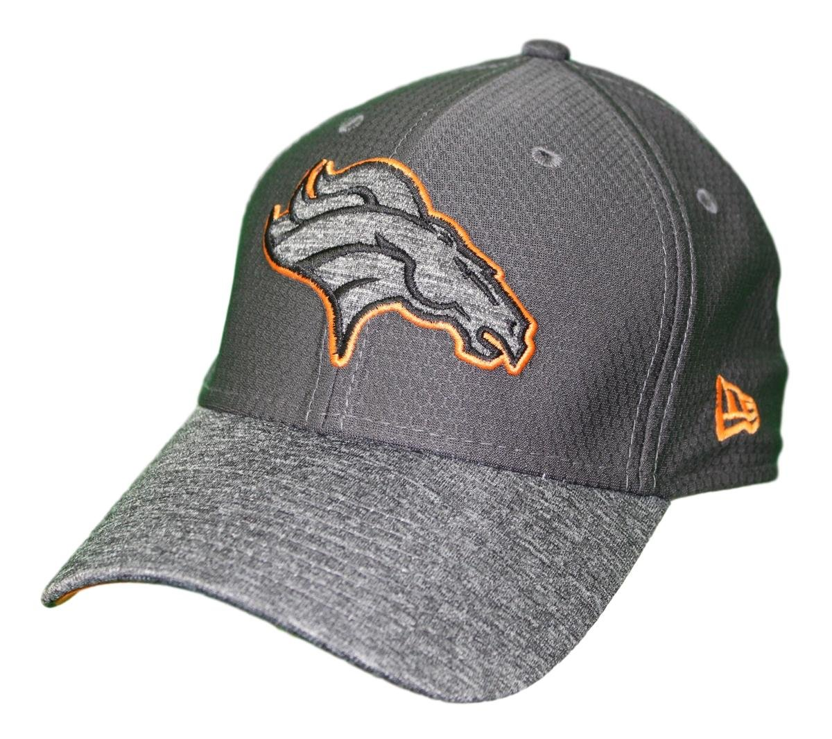info for 0b1e2 f8aae Amazon.com   New Era Denver Broncos NFL 39THIRTY Popped Shadow Flex Fit Hat  - Graphite   Clothing