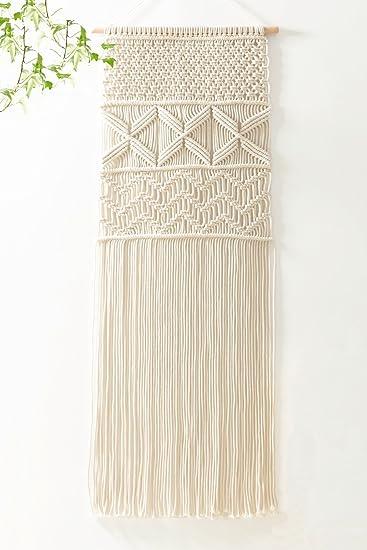 Mkouo Makramee Wandbehang Dekoration Für Ihr Zimmer Wie Die Küche Böhmische  Wanddeko Wandteppich Von Baumwolle Handgefertiges