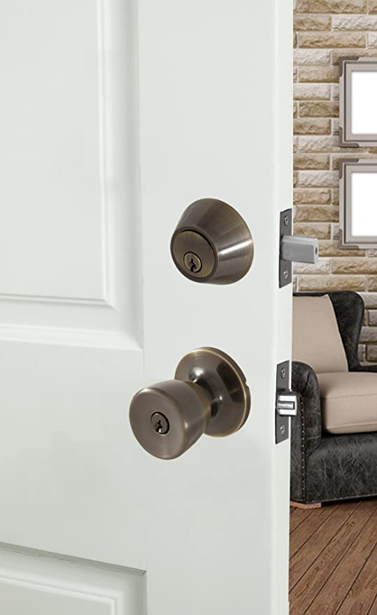 Honeywell 8100005 Tulip Combo Door Knob, Polished Brass - Doorknobs - Amazon.com