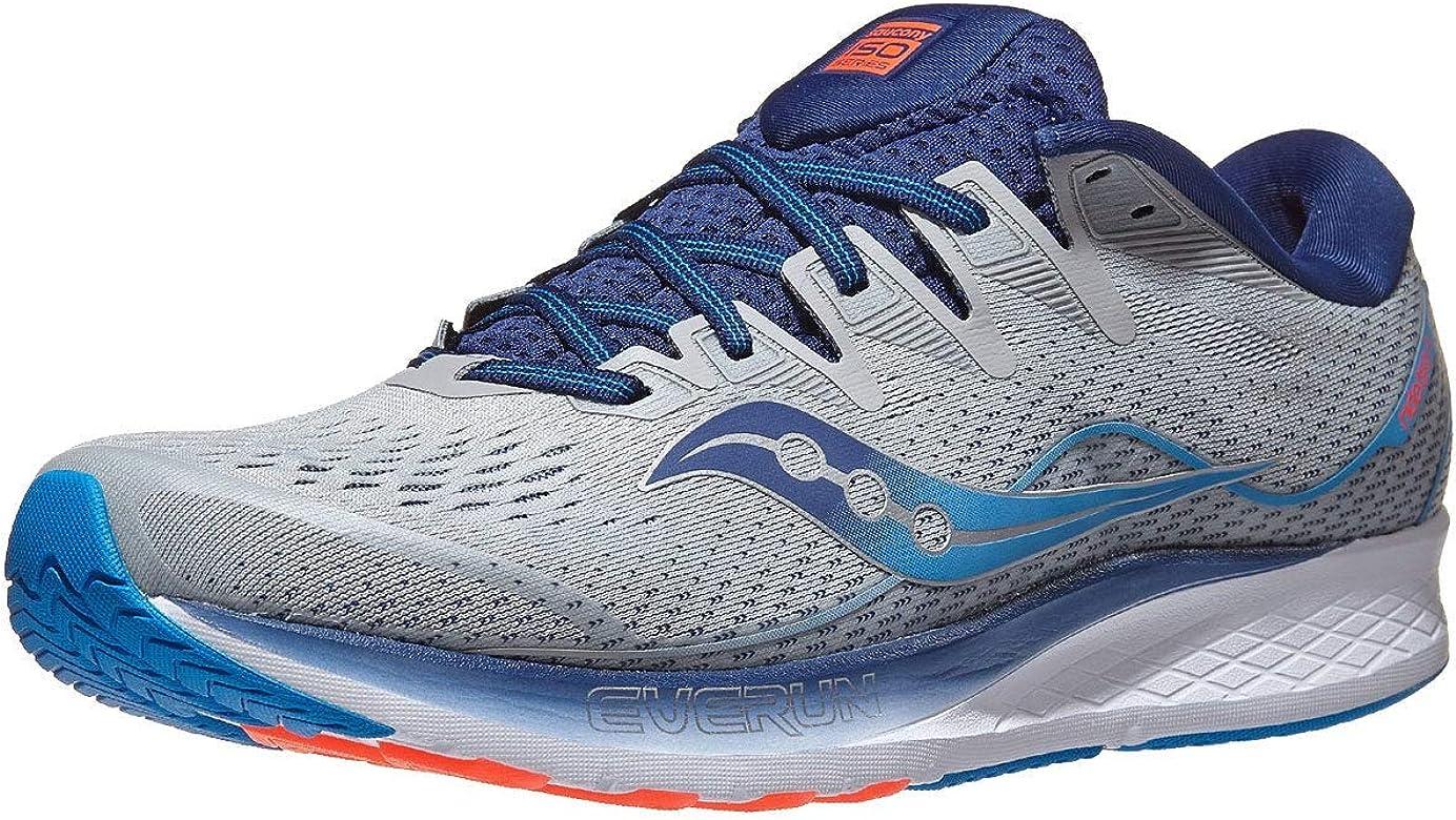 Saucony Ride ISO 2 - Zapatillas de correr para hombre, Multicolor (Gris/ Azul), 40 EU: Amazon.es: Zapatos y complementos