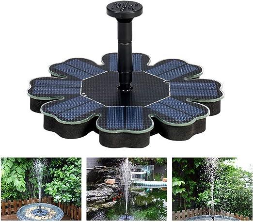 HAOHAODONG Duchas Jardín Fuente Solar Bomba de Agua 1.4 W Monocristalino 7 V Yarda Paisaje en Miniatura Flotante Loto de la Hoja de la Piscina Casa Jardín Decoración: Amazon.es: Hogar