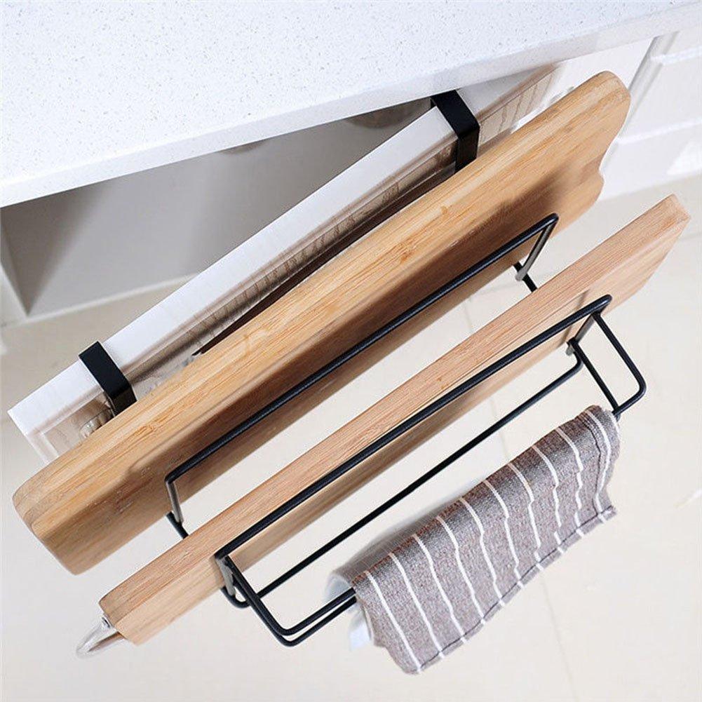 organizador de cocina Gancho para colgar sobre la puerta soporte para tabla de cortar estante para colgar Tama/ño libre blanco