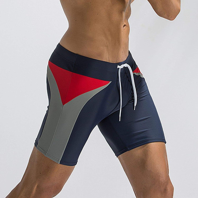 1fc021f024 Amazon.com: Meiliwanju Mens Athletic Jammer Quick Drying Shorts Sport  Splice Swimsuit Training Swimming Suits Square Leg Shorts: Clothing