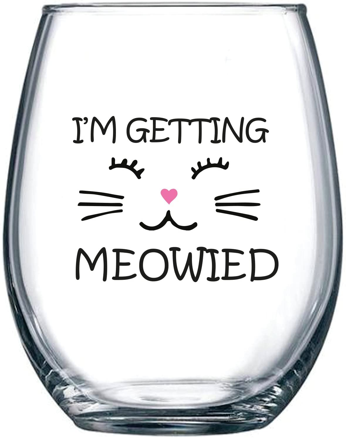 Stemless Wine Tumbler Coffee Travel Mug I/'m Getting Meowied Married Engagement