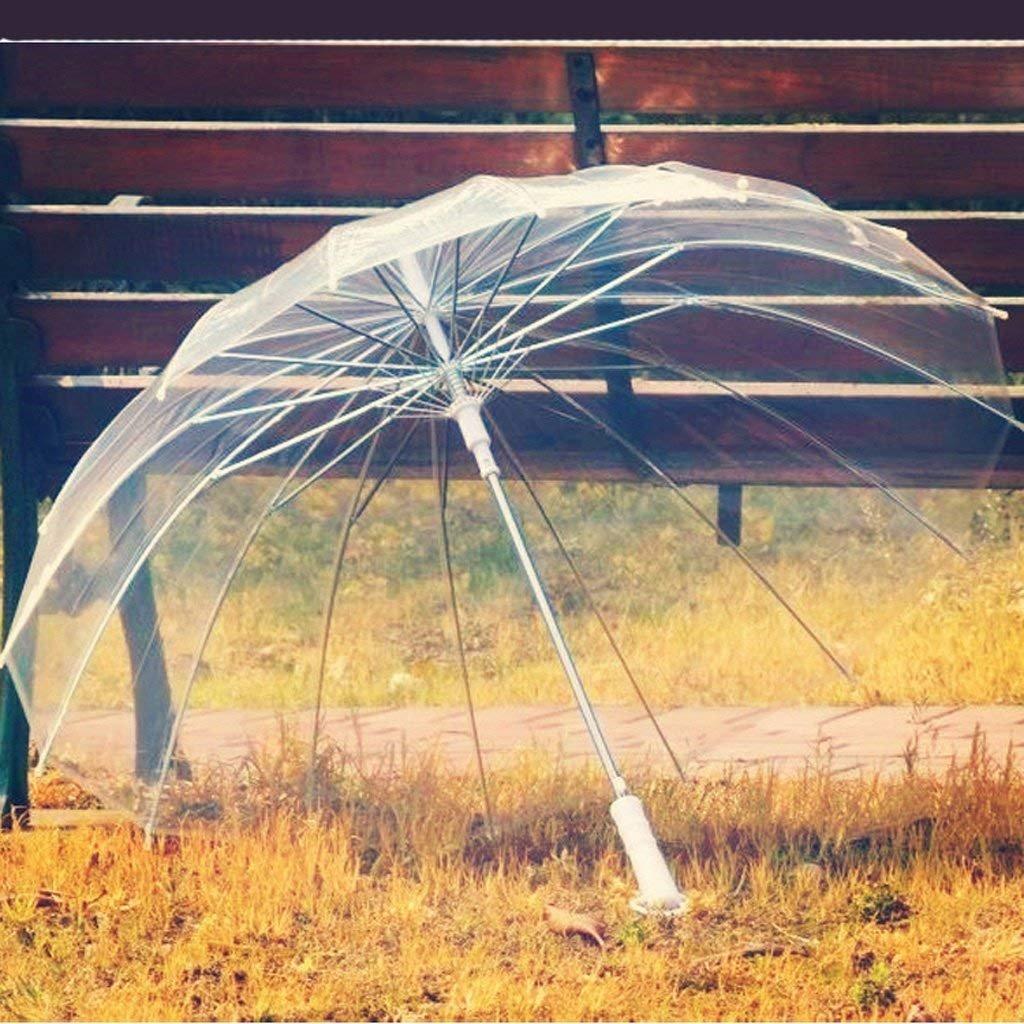 Interesante paraguas retro con mango largo y excelente calidad.