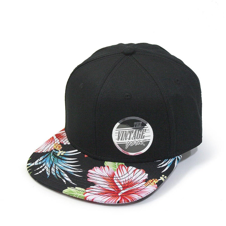 Premium Floral Hawaiian Cotton Twill Adjustable Snapback Hats Baseball Caps (Varied Colors)