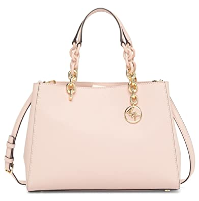 7297d032199c ... coupon for michael michael kors cynthia medium saffiano leather satchel  bag soft pink bf48f 82fb7