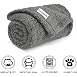 furrybaby Premium Fluffy Fleece Dog Blanket, Soft and Warm Pet Throw for Dogs & Cats (Small 24x32'', Grey)