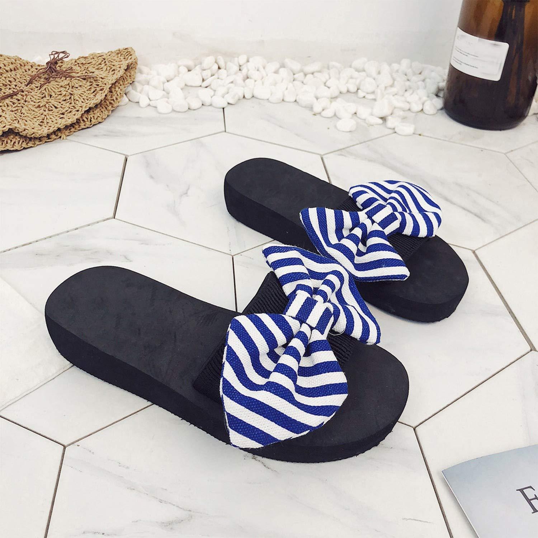 Women Bow Summer Sandals Slipper Indoor Outdoor Flip-Flops Beach Shoes New Summer Womens Shoes