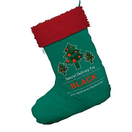 Personalizado árboles de Navidad medias calcetines de Navidad entrega especial Jumbo verde con ribete de color