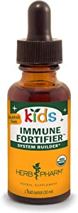 Herb Pharm Kids Certified-Organic Alcohol-Free Immune Fortifier Liquid Herbal Formula, 1 Ounce