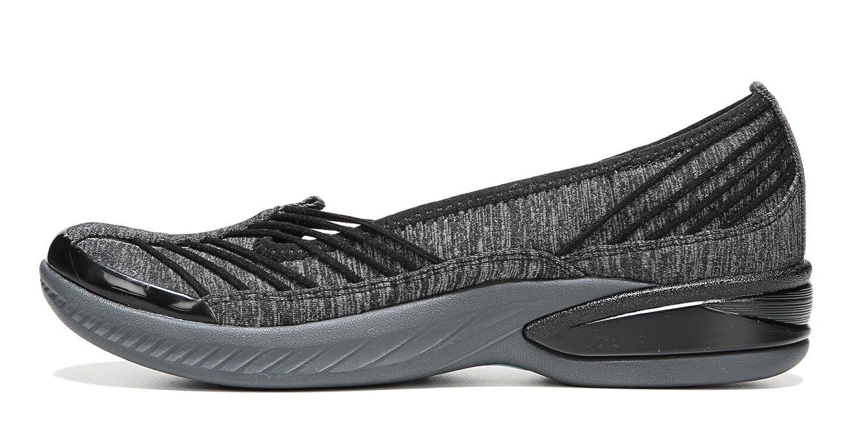 BZees Women's Nurture Slip-On Sneaker, Black/Grey 7 W US
