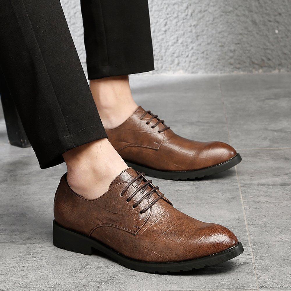 Herren Leder Gefüttert Smart Hochzeit Lace up Büro Formelle Kleidung Schuhe Schwarz Büro up Business Arbeit Derby Oxford Schuhe Braun 58a7b4