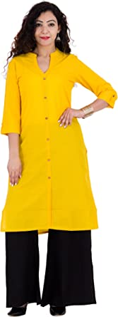 Indian Cotton Kurta Dress Style Size XL 42 inch chest Cotton A line