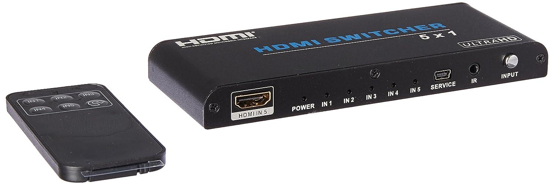 Monoprice Blackbird 4K Pro 5x1 HDMI Switch with HDCP 2.2 Support 115263