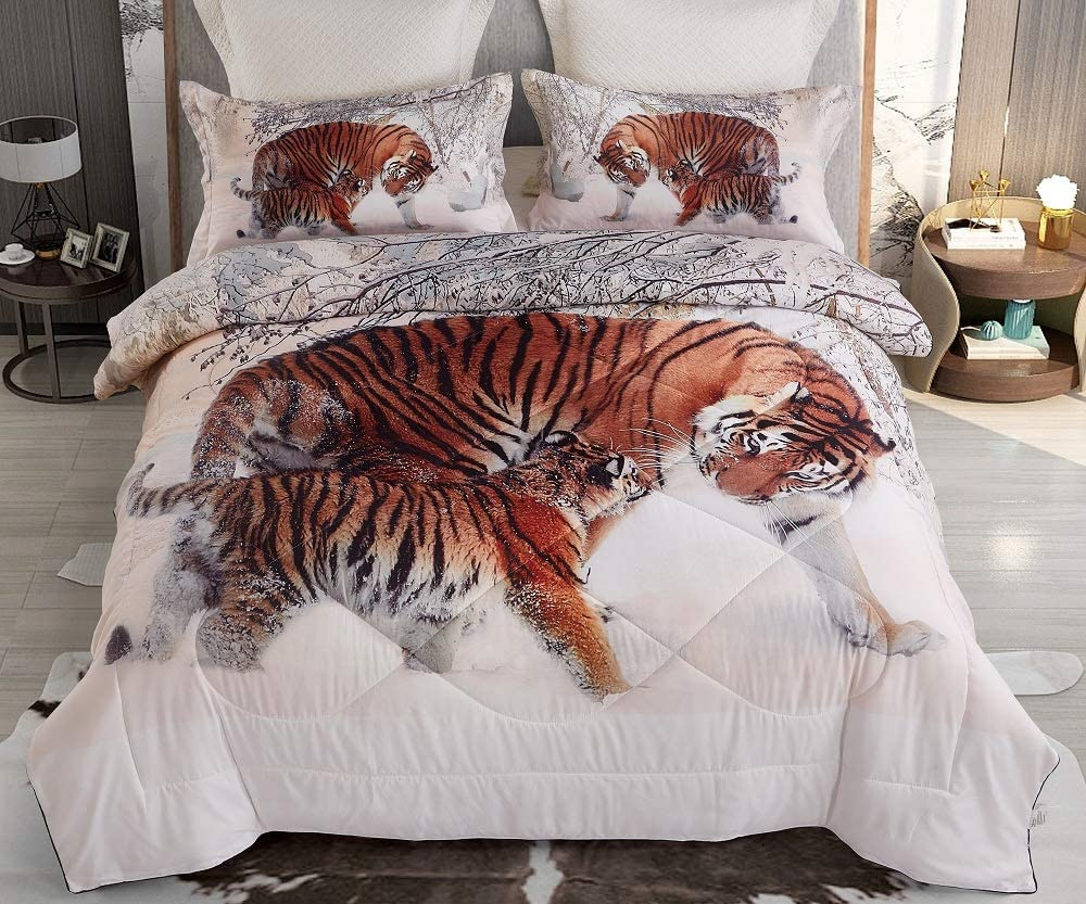 Tiger Comforter Sets Queen Max 61% OFF Size 3 Quantity limited Girls Quilted Boys and Pieces
