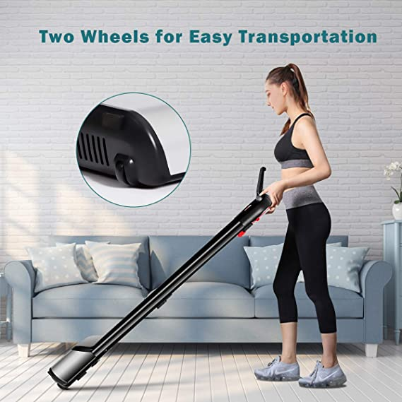 Max Weight Capacity for Walking Jogging UL Listed Portable Electric Treadmill with LCD Display Running SPSUPE Ultrathin Folding Treadmill with Free-Installation Design Home and Office Use