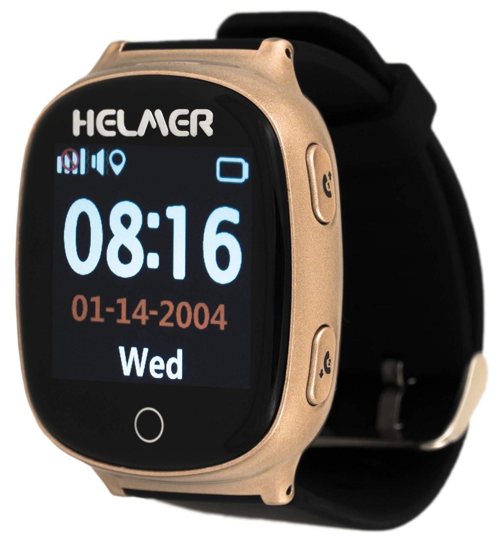 HELMER lk705eldery Smartwatch con GPS Rastreador y función de Llamada, pulsómetro Oro