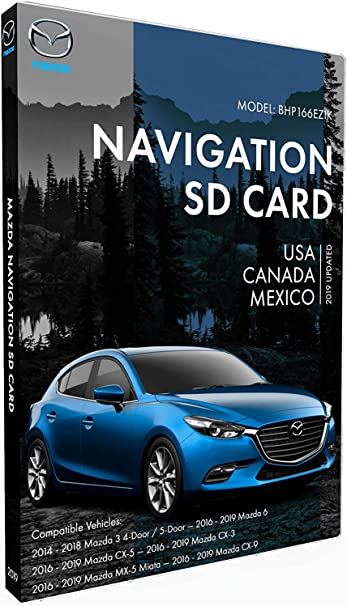 Support Speed and Red Light Warning Pre-Installed US Mexico,Canada South America Maps Original SD BHP166EZ1K GPS Navigation for Car Mazda 3|6|CX-3|CX-5|CX-9 Latest Update