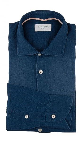 Tintoria Mattei - Camicia classiche - Uomo blu Blau  Amazon.it ... 354ac6fdc70