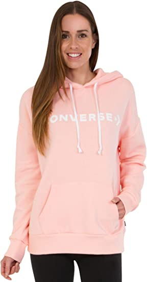 Converse Star Chev Oversized Pullover Hoodie PNK - Sudadera, Mujer, Rosa(Storm Pink): Amazon.es: Deportes y aire libre