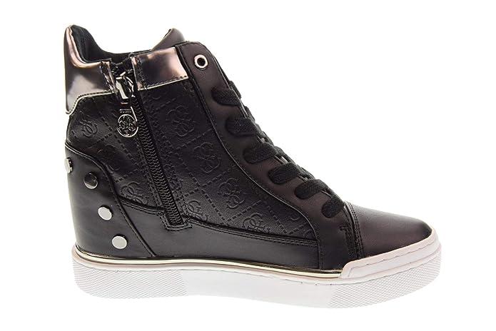 GUESS Zapatos Mujer Zapatillas Altas con cuña Interna FL5FNLFAL12 Bianco: Amazon.es: Zapatos y complementos