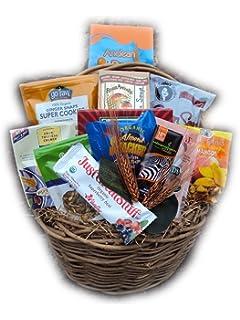 Amazon raw food christmas gift basket vegan gluten free by vegan food gift basket by well baskets negle Image collections