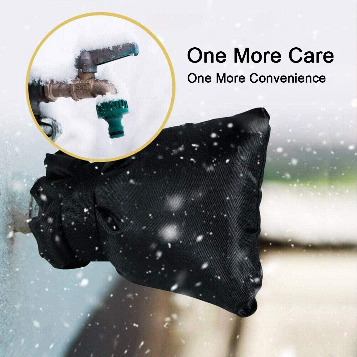 Garden Outdoor Faucet Cover 4 Pack Faucet Covers for Winter Outdoor Faucet Covers for Winter Freeze Protection Black Outside Faucet Covers for Cold Weather Hose Bib Covers for Winter