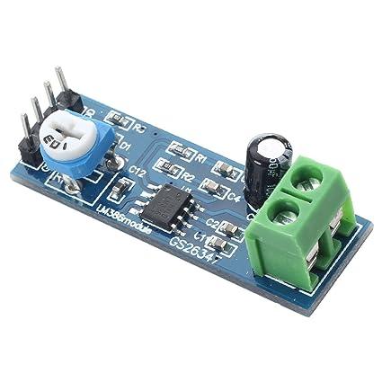 TOOGOO(R) LM386 Modulo de amplificador de audio 200 veces 5-12V 10K