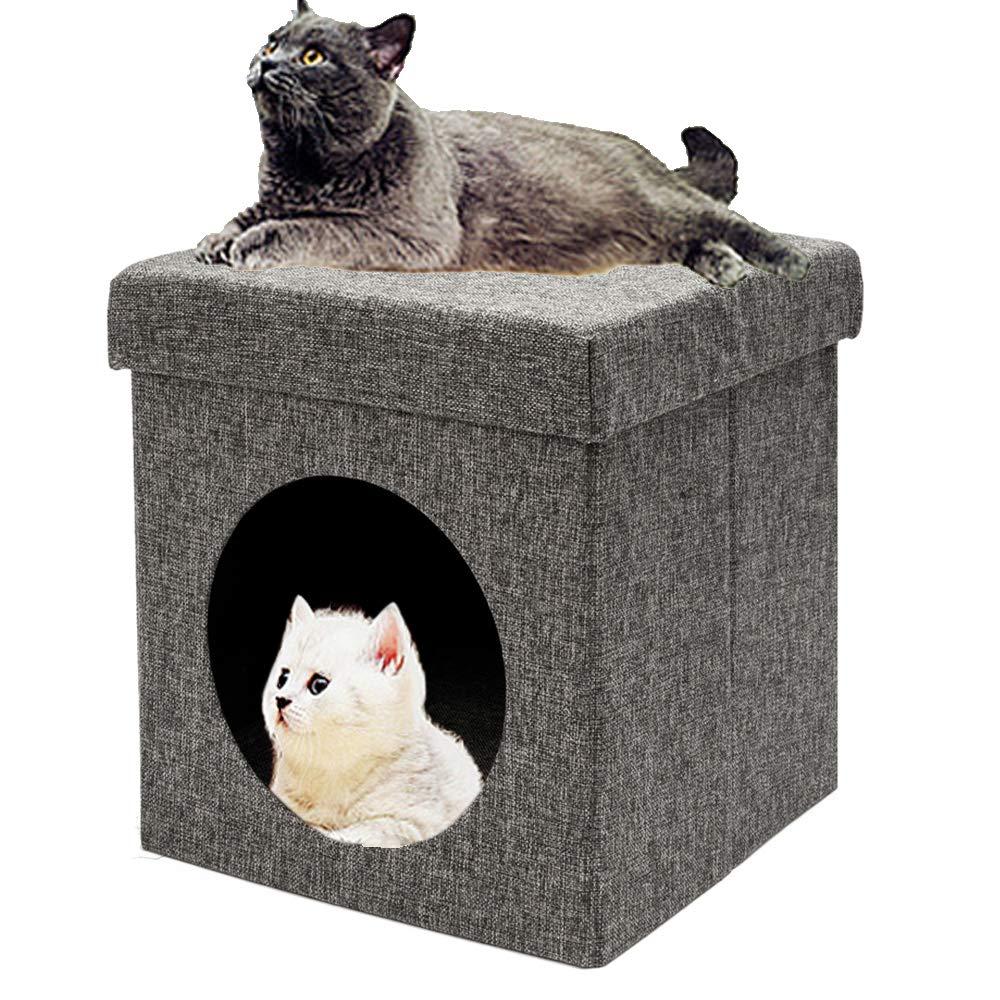 Amazon.com: DotePet silla plegable gato arena cama gato casa ...