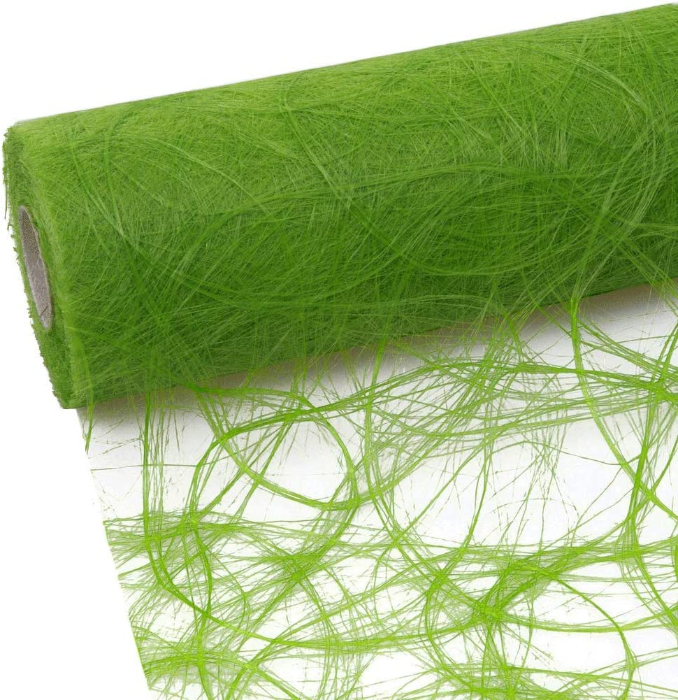 Sizoweb Table Runner Apple Green: Beautiful, Reusable, Easy to use and Customizable in Length (Cut & go) - Perfect for Decorating Seasonal, Wedding, Dinner and Party Tables (Covers 10 8ft Tables)