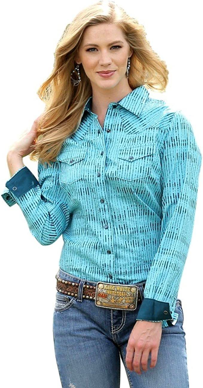 Cruel Girl Western Shirt Womens L/S Diamond XXL Orange