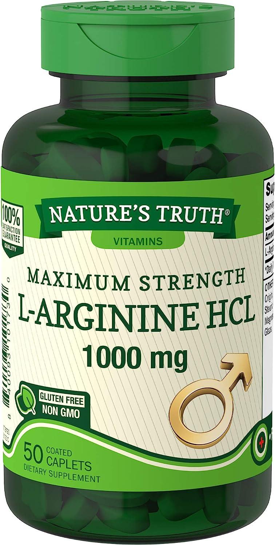 Nature's Truth L-Arginine Supplement, 50 Count