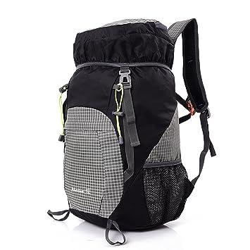 Wawen muy de moda moderno unisex nailon doblar la mochila bolsa de deportes al aire libre impermeable mochila portátil, negro: Amazon.es: Deportes y aire ...