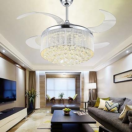 RS Iluminación K9 Crystal ventilador de techo para ...
