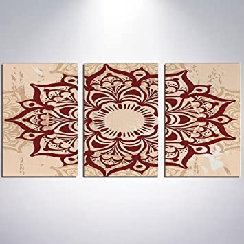 Amazon Com Wall Art Henna Painting On Canvas Stretched And